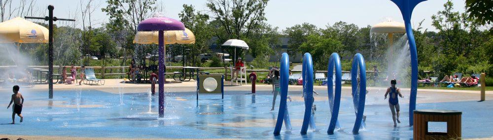 childrens spray park