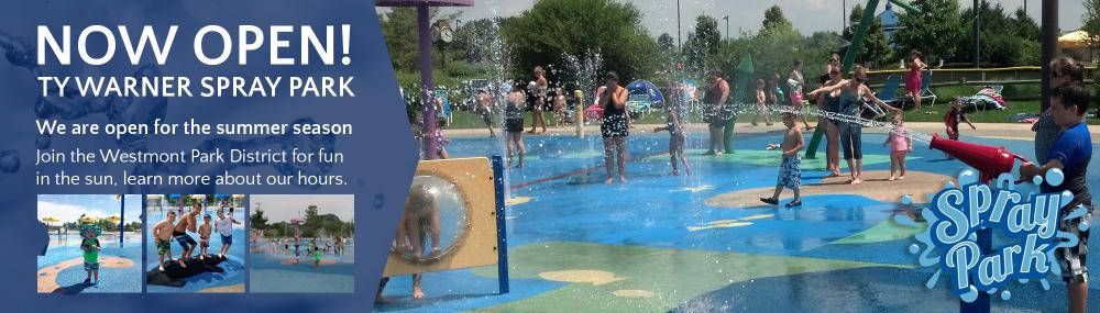 Spray Park Open- Homepage